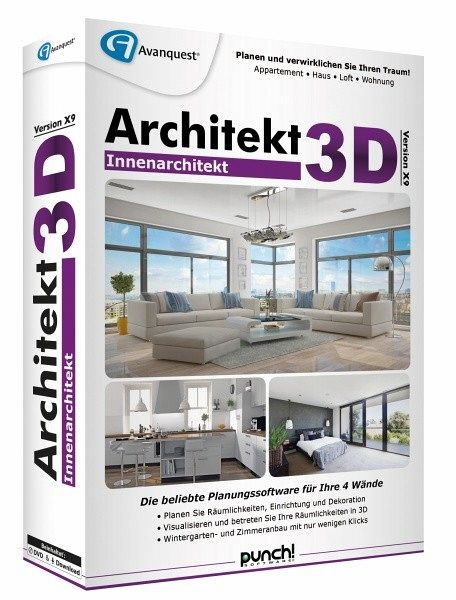 Architekt 3d x9 innenarchitekt software portofrei bei for Innenarchitektur software