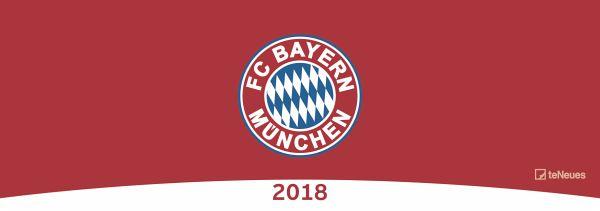 Fc bayern m nchen 2018 for Schreibtisch querkalender 2018