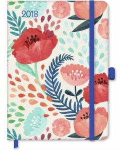 Floral 2018 GreenLine Taschenkalender/Diary