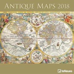 Antique Maps 30 x 30 Grid Calendar 2018