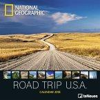 National Geographic Road Trip USA 2018 Broschürenkalender