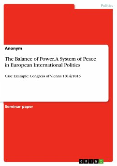 9783668363083 - Anonym: The Balance of Power. a System of Peace in European International Politics - Livre