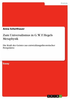 Zum Universalismus in G. W. F. Hegels Metaphysik (eBook, PDF)