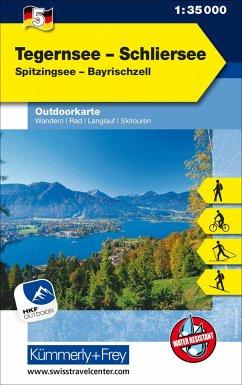 Kümmerly+Frey Outdoorkarte Tegernsee - Schliersee
