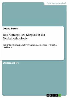 Das Konzept des Körpers in der Medizinethnologie (eBook, PDF)