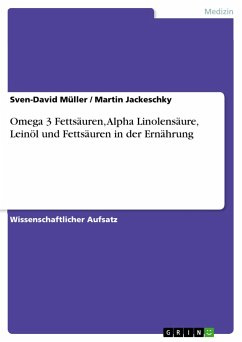 Omega 3 Fettsäuren, Alpha Linolensäure, Leinöl ...