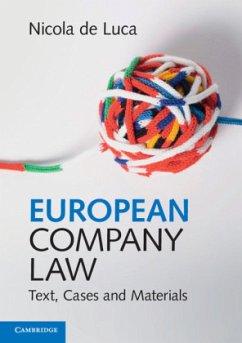 European Company Law - de Luca, Nicola