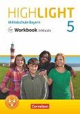 Highlight 5. Jahrgangsstufe - Mittelschule Bayern - Workbook inklusiv mit Audios online