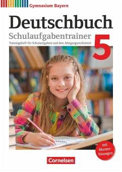 Deutschbuch Gymnasium 5. Jahrgangsstufe - Bayern - Schulaufgabentrainer mit Lösungen - Lessing, Michael; Mümmler, Kerstin; Rühle, Christian