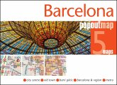 Barcelona Popout Map, 2 maps