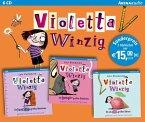 Ein fischstäbchengroßes Abenteuer & Ein hundenasengroßes Geheimnis & Ein eiskugelgroßes Rätsel / Violetta Winzig Bd.1-3 (6 Audio-CDs) (Mängelexemplar)