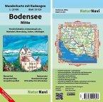 NaturNavi Wanderkarte mit Radwegen Bodensee Mitte
