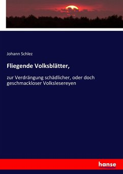 9783743652354 - Schlez, Johann: Fliegende Volksblätter - Kitap