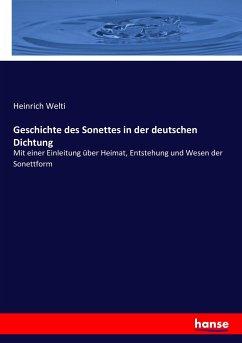 9783743655737 - Heinrich Welti: Geschichte des Sonettes in der deutschen Dichtung - Buch