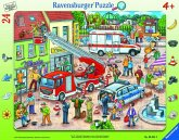 Ravensburger 065813 - 110, 112 - Eilt herbei!, Rahmenpuzzle, 24 Teile