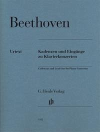 Kadenzen und Eingänge zu Klavierkonzerten - Beethoven, Ludwig van