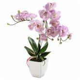 miaVILLA Kunstpflanze Orchidee Nachtfalter Rosa