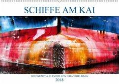 Schiffe am Kai (Wandkalender 2018 DIN A2 quer)