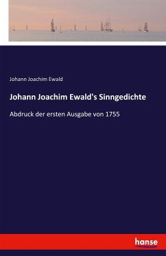 9783743657700 - Johann Joachim Ewald: Johann Joachim Ewald's Sinngedichte - Buch