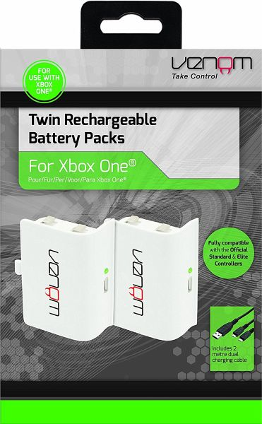 venom xbox one twin rechargeable batterypack white portofrei bei b kaufen. Black Bedroom Furniture Sets. Home Design Ideas