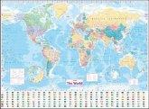 Collins World Wall Laminated Map, Plano