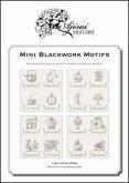 Mini blackwork motifs. Blackwork designs