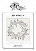 Ivy Wreath. A blackwork design
