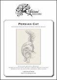 Persian cat. Blackwork design