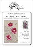 Deep pink hellebore. Cross stitch blackwork design. Ediz. italiana, inglese e francese