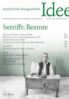 Zeitschrift für Ideengeschichte Heft XI/1 Frühjahr 2017 (eBook, PDF)