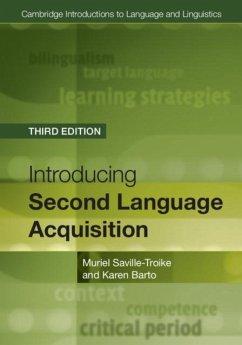 Introducing Second Language Acquisition (eBook, PDF) - Saville-Troike, Muriel