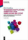 Wissenschaftliches Arbeiten von Abbildung bis Zitat (eBook, PDF)