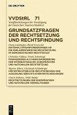 Grundsatzfragen der Rechtsetzung und Rechtsfindung (eBook, PDF)