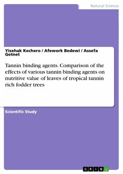 Tannin binding agents. Comparison of the effects of various tannin binding agents on nutritive value of leaves of tropical tannin rich fodder trees