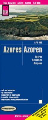 Reise Know-How Landkarte Landkarte Azoren (1:70.000); Azores; Acores