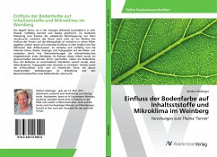 Einfluss der Bodenfarbe auf Inhaltsststoffe und Mikroklima im Weinberg