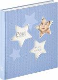 Walther Estrella blau 28x30,5 50 weiße Seiten Babyalbum UK133L