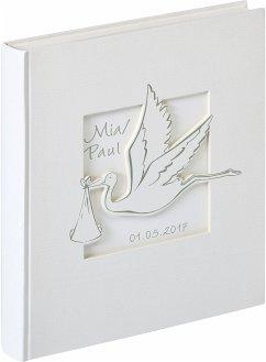 Walther Cicogna 28x30,5 50 weiße Seiten Babyalbum UK201