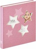 Walther Estrella rosa 28x30,5 50 weiße Seiten Babyalbum UK133R