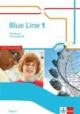 Blue Line. Workbook mit Audio-CD. Klasse 5. Ausgabe für Bayern ab 2017