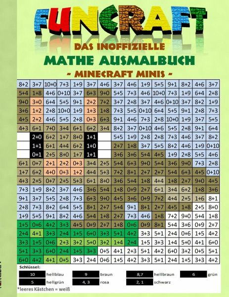 Funcraft Das Inoffizielle Mathe Ausmalbuch Minecraft Minis Cover Hase