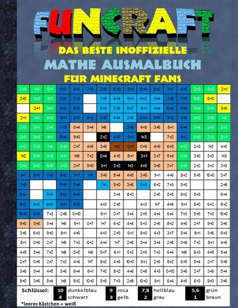 Funcraft Das Beste Inoffizielle Mathe Ausmalbuch Für Minecraft