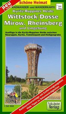 Doktor Barthel Karte Kyritz-Ruppiner Heide, Wittstock/Dosse, Mirow, Rheinsberg und Umgebung