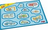 HABA 302840 - Meine ersten Rahmenpuzzles – Fahrzeuge, 10 Teile