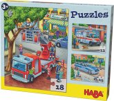 HABA 302759 - Puzzles Polizei, Feuerwehr & Co.
