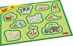 HABA 302839 - Meine ersten Rahmenpuzzles – Bauernhof, 10 Teile