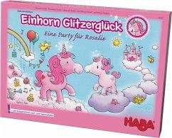 HABA 302767 - Einhorn Glitzerglück, Eine Party für Rosalie, Laufspiel