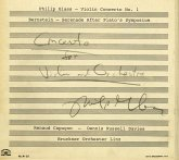 Violinkonzert 1/Serenade After Plato