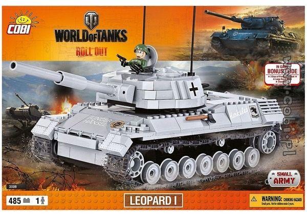 cobi 3009 world of tanks leopard 1 panzer. Black Bedroom Furniture Sets. Home Design Ideas