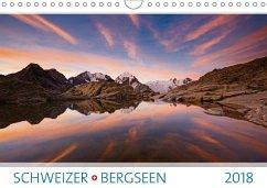 9783665731618 - AG, Calendaria: Schweizer Bergseen 2018 (Wandkalender 2018 DIN A4 quer) - Könyv